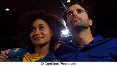 couple, film, regarder, théâtre, 4k