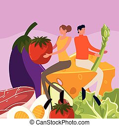 couple food healthy