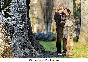 couple, forêt