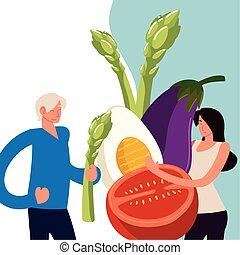 couple fresh food