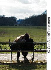 couple, garez banc