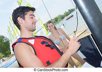 couple going sailing