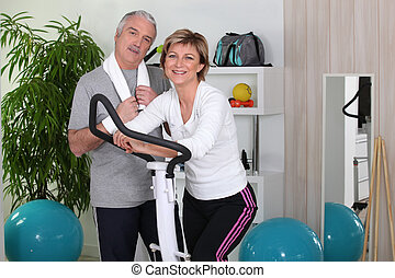 couple, gymnase