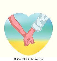 couple hands in heart