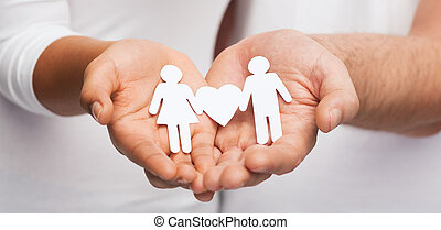 couple hands with paper couple - relationships and love ...