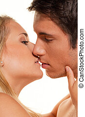 Couple has fun. Love, eroticism and tenderness in