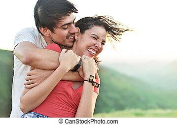 couple have fun