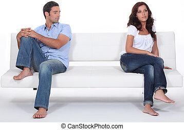 Couple having a disagreement