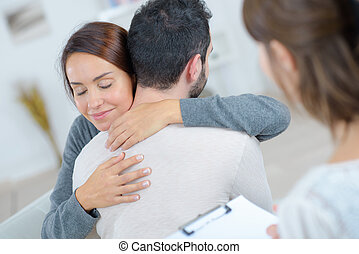 couple having a hug