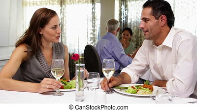 Couple having a romantic meal toget