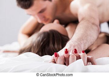 Couple having affair - Young couple having affair on...