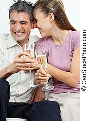 Couple Having Champagne