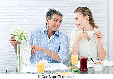 Couple Having Healthy Breakfast