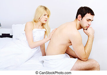 couple having problems, focus on female