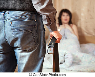 couple having quarrel - Married couple having quarrel about...