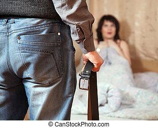 couple having quarrel