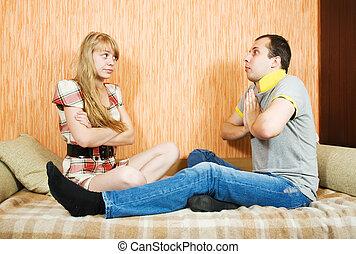 couple having quarrell