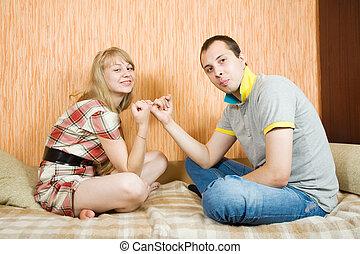 couple having reconciliation
