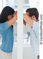 Couple having relationship problems concept