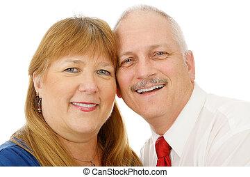 couple, headshot, mûrir
