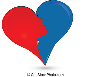 Couple heart logo
