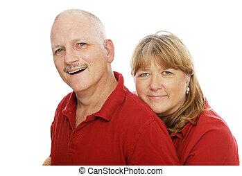 couple, heureux, mûrir