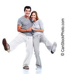 couple., heureux