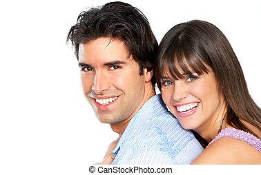 couple heureux, sourire