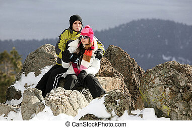 couple, hiver