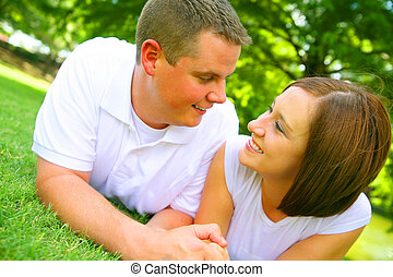Couple Holding Hand Outdoor