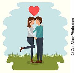 Couple holding hands design.