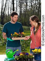 couple, horticulteur