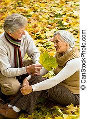 couple in a autumn park
