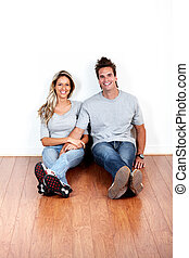 Couple in a new house.