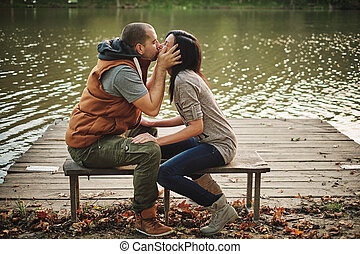 Couple in a pier