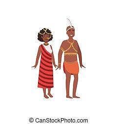 Couple In African National Clothes