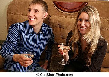 couple in bar