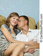 couple in home interior
