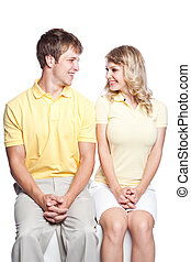 Couple in love - A portrait of a beautiful caucasian couple...