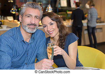 couple in love celebrating their anniversary