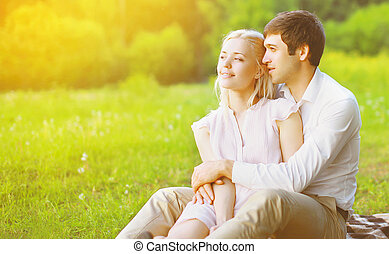 Couple in love enjoying nature