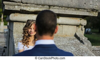 couple in love having fun outdoors