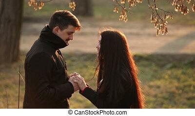 Couple in love having