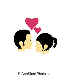 Couple in love illustration vector design