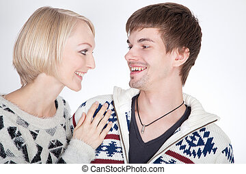 couple in love looking