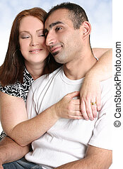 Couple in love spending time together
