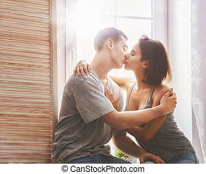 couple in love - Happy couple in love. Stunning sensual...
