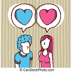 Couple in love / Two hearts