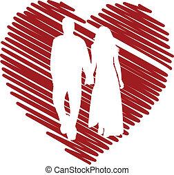 Couple in love - vector