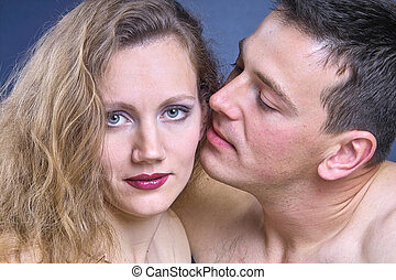 Couple in love - yound and attractive couple in love